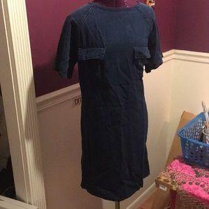 Top shop denim dress.